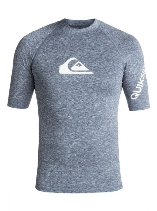QUIKSILVER MENS RASH VEST.NEW ALL TIME BLUE UPF50+ GUARD T SHIRT TOP 8S 33 BRQH